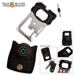 Trailblazer Multi Tool Survival Card With Compass & Magnifier