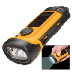 Sugar Creek Solar Hand Crank Flashlight