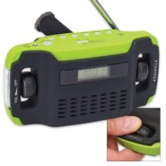 Sugar Creek Hand Cranked Radio/Alarm/Flashlight
