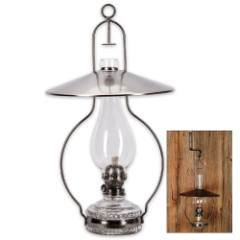 Sugar Creek Hanging Oil Lamp With Reflector