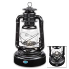 "Dietz Jupiter Black Hurricane Oil Lantern – Extra Large Base, 72-Hour Burning Time, 1,400 BTUs Per Hour, Flat Wick – 15"" Tall"
