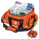 First Responder Bag - Spacious Compartments, Zippered Pockets, Complete Set Of First Aid Equipment, Shoulder Strap