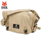 Fox Outdoor Products Retro Courier Shoulder Bag - Jolly Roger Patch