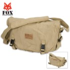 Fox Outdoor Products Retro Courier Shoulder Bag - US Flag Patch