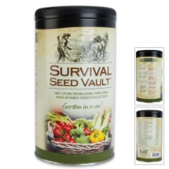 Survival Seed Vault - 20 Varieties of Heirloom Seeds