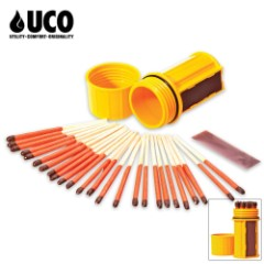 UCO Stormproof Waterproof Matches with Case and Strikers
