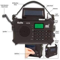 Kaito Emergency Solar Radio And Music Machine – Bluetooth, Weather Band, MP3 Player, Hands-Free Cellphone Speaker, Hand Crank Dynamo