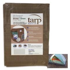 Brown And Green Reversible Tarp – 8'x10'