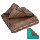 Brown And Green Reversible Tarp - 10'x 20'