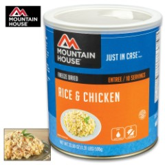 Mountain House Chicken & Rice Can 10 Servings
