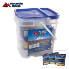 Mountain House Just In Case Essential 12 Piece Entrée Bucket 32 Servings