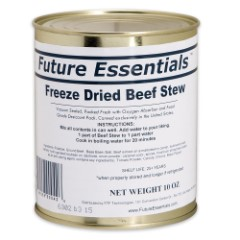 Future Essentials 10 oz. Freeze-Dried Beef Stew in Vacuum-Sealed Can
