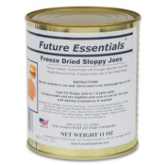 Future Essentials Sloppy Joes Mix - Real Cooked Beef, Vegetables, Just Add Water, 10.7 Ounces - 20+ Years Shelf Life