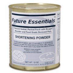 Future Essentials 12 oz. Shortening Powder in Vacuum-Sealed Can