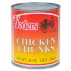 Yoders Chicken Chunks – Fully Cooked, Low-Fat, 10+ Year Shelf-Life, Produced In USA, USDA Inspected – 28 Ounces