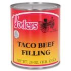 Yoder's 28 oz Amish-Produced Taco Beef Filling in Vacuum-Sealed Can