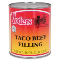 Yoder's 28 oz. Amish-Produced Taco Beef Filling in Vacuum-Sealed Can