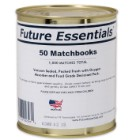 Future Essentials 50 Matchbooks in Vacuum-Sealed Can