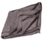 "Bulgarian Grey Wool Blanket – Like New Military Surplus, Retains Insulation When Wet, 72""x60"""