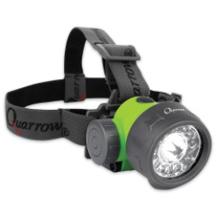 Quarrow Outdoorsman's Headlamp - 70 Lumens - White, UV, Green LEDs