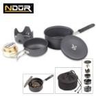 Ndur Mini Cookware Kit With Alcohol Burner