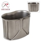 Rothco GI-Style Stainless Steel Canteen Cup – Fits 1-Qt. Canteen