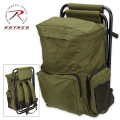 Rothco Backpack And Stool Combo – Olive Drab