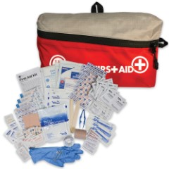 """Featherlite First Aid Kit 2.0 - Contains Assortment Of First Aid Supplies, Nylon Cloth Bag With Zipper Closure - Dimensions 8 1/4"""" x 4 3/4"""" x 2"""""""