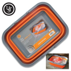 UST Flexware Sink 2.0 – TPR Construction, BPA-Free, Collapsible, Lightweight, Dishwasher Safe, Dual Handles – Capacity 16L