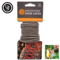 """UST ParaTinder Shoe Laces - Tinder Thread Inside, All-Purpose Paracord - Length 63"""""""