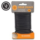 UST Black Gear Snake Cord - Steel Wire, Flexible Rubber Coating, Twist Ends, Rust-Resistant, Glows In Dark, Easy-To-Cut - 16 1/2'