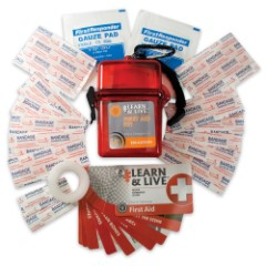 UST Learn and Live First Aid Kit with Reference Guide