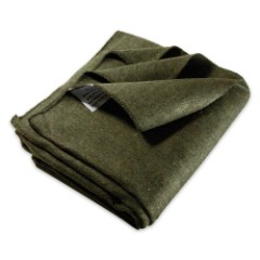 64 X 84 Wool Blanket Olive Green