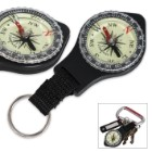 Glow In The Dark Key Ring Compass