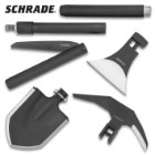 Schrade Six-Piece Outdoor Kit With Polyester Case – Multi-Tool, Solid Steel Construction, Silicone-Wrapped Handles