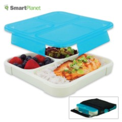 Ultra-Thin Lunch Book Meal Kit With Pouch – Blue