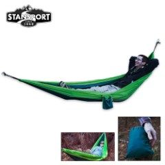 Newport 2-Person Packable Traveler Nylon Hammock Green/Teal