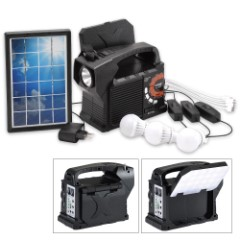 Solar Box 9-in-1 Solar Powered Emergency/Camping Kit