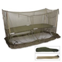 Military Surplus Mosquito Cot Cover With Carry Bag