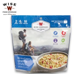 Wise Company Strawberry Granola Crunch Camping Food - Case of 6 Two-Serving Pouches
