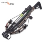 Gladiator Whisper 405 Compound Realtree Camo Crossbow - AR-Style Adjustable Stock, Quad Limbs, 4x32 mm Scope, 200-LB Draw Weight