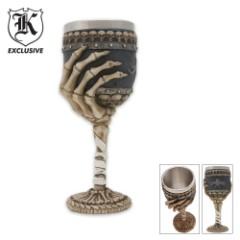Hand-Bone Wine Goblet