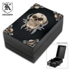 Fantasy Décor Skull Trinket Box