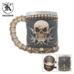 Fantasy Tribal Skull Coffee Mug Tankard