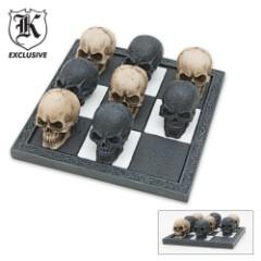 Fantasy Skull Decor Game Tic Tac Toe Resin Hand Painted
