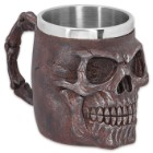 Rusted Red Fantasy Skull Coffee Mug and Tankard