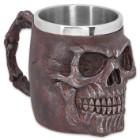 Rusted Red Fantasy Skull Coffee Mug and Tankard