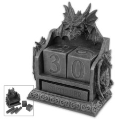 Dragon Statue Tabletop Calendar