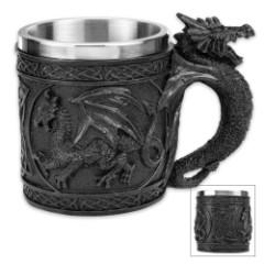 Gothic Inspired Dragon Guard Mug – 8 oz