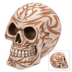 Tribal Bones Tattoo Skullpture